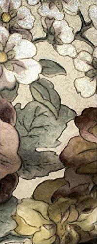 Earthtone Floral Panel - Great Art Now Earthtone Floral Panel III by Catherine Kohnke Laminated Art Print, 11 x 27 inches