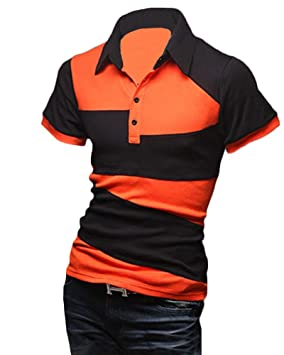 Yonglan Hombres Polo Camisas Slim Fit De Manga Corta Camisetas ...