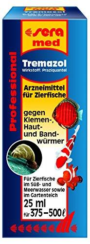 sera 02190 med Professional Tremazol 25 ml - Arzneimittel für Zierfische gegen Kiemen-, Haut- und Bandwürmer
