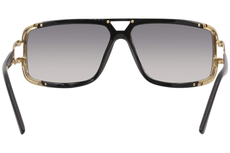 123934b65d3 Amazon.com  Cazal Men s 9074 001SG Matte Black Gold Retro Pilot Sunglasses  62mm  Clothing