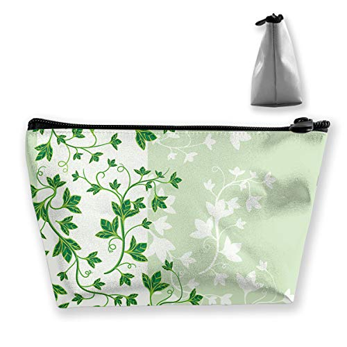 pengyong Beautiful Poison Ivy Makeup Bag Large Trapezoidal Storage Travel Bag Wash Cosmetic Pouch Pencil Holder Zipper -