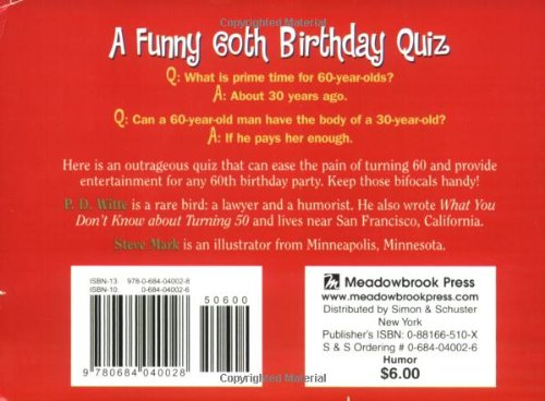 What You Dont Know About Turning 60 A Funny Birthday Quiz PD