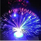 Meiqils Luce di notte Lampada a fontana a fibre ottiche a colore cangiante
