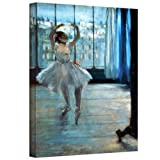 ArtWall 'Dancer in Front of a Window Dancer at The Photographer's Studio' Gallery-Wrapped Canvas Artwork by Edgar Degas, 48 by 36-Inch
