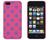 retro 5s grape - DandyCase Hot Pink with Purple Polka Dots - Slim Fit Hard Case for Apple iPhone 5S / 5 (AT&T, Verizon, Sprint, International) - Includes DandyCase Keychain Screen Cleaner [Retail Packaging by DandyCase]