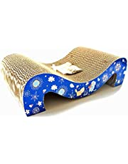 Irispets cat Scratcher Cardboard, cat Scratching pad, Corrugated cat Scratcher Lounge Toys with Catnip