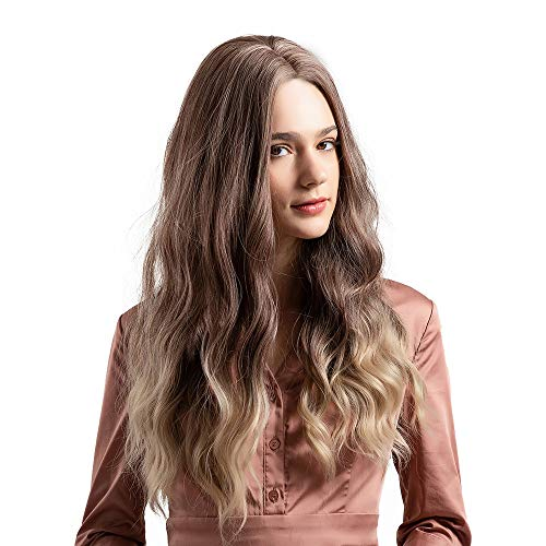 (Clearance Sale Costume Wigs,Ketteb Gradient Blonde Long Curly For Woman Wig Simulation Hair Wigs + Free Wig)