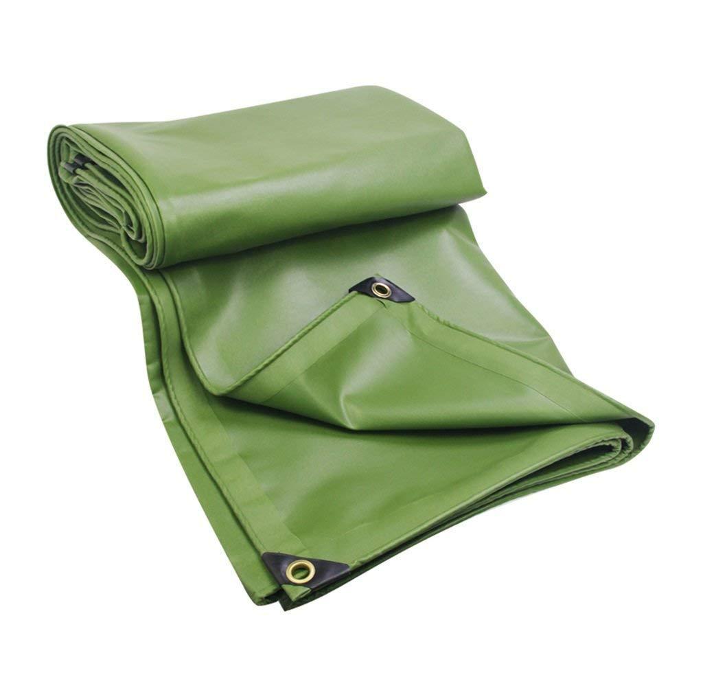 MSF Zeltplanen 100% Wasserdichte PVC-Plane, Outdoor Camping Hochleistungsdach Auto-Stiefelabdeckung Zelt, 600g   m² ,Dicke 0,6 mm ,Grün (größe   5x7m)