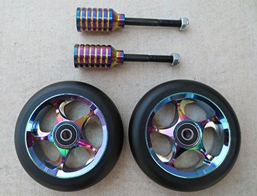 Dis 110 mmブラックSlicksパッケージ – 2 Wheels and 2ペグ