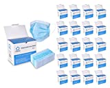 (125ct Box) Disposable Face Mask Premium Soft Earloop 3-Ply Hypoallergenic Medical Surgical Dental Flu Procedural, 2500 Masks (20 Boxes), Blue