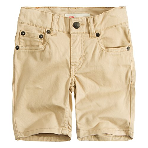 Levi's Boys' Little 511 Slim Fit Soft Brushed Shorts, Pale Khaki, 6