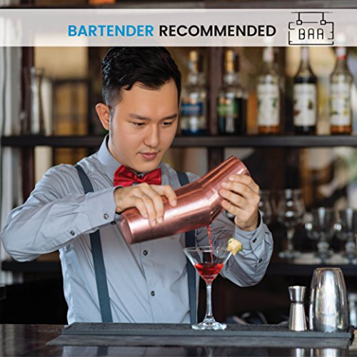 Bartender Boston Cocktail Shaker Set - Copper - Includes 28oz & 18oz Cocktail Shaker 18/8 Durable Food Grade Stainless Steel Bar Shaker Set, Built with Heavy Weighted Shaker Tins For a Perfect Balance by FINEDINE (Image #6)