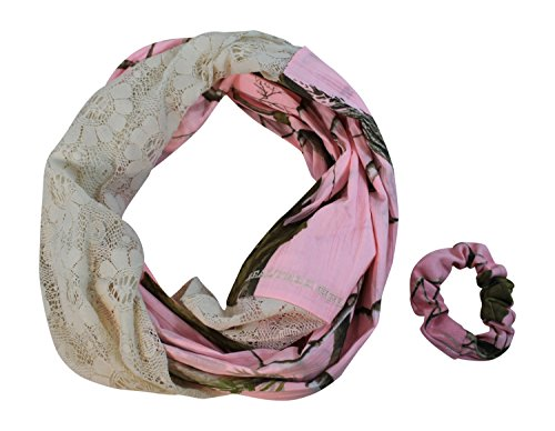 Infinity Camo and Lace Scarf, APC Camouflage, One Size (Great Lodge Four Light)