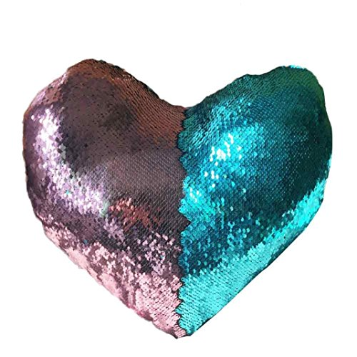 [Winhurn DIY Double Colors Glitter Sequins Throw Cushion Cover for Home Decor (Heart A)] (Diy Halloween Decor)