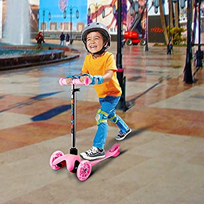 WeSkate Mini Scooter for Kids, Lights Up Scooter for Girls Boys, Toddlers Scooter with 4 Level Adjustable Height, Design for Children Ages 2-8 : Sports & Outdoors