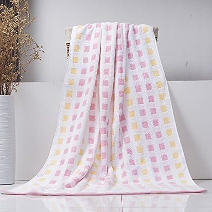 Amazon Com Bath Towel Adult Men And Women Solid Color Bath Towel