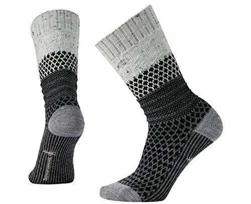 Smartwool Women's Popcorn Cable Lifestyle Socks (Winter White Donegal) Small