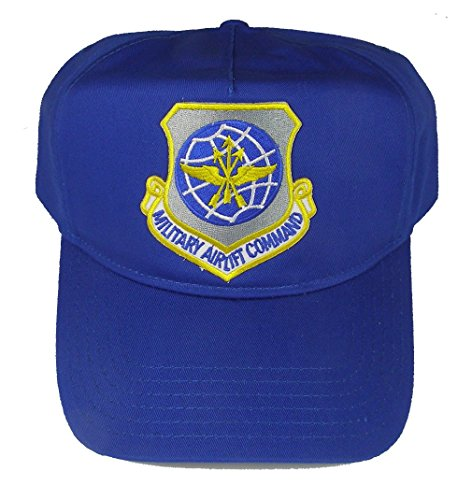 Shield Military Cap - MILITARY AIRLIFT COMMAND MAC SHIELD HAT - Royal Blue - Veteran Owned Business