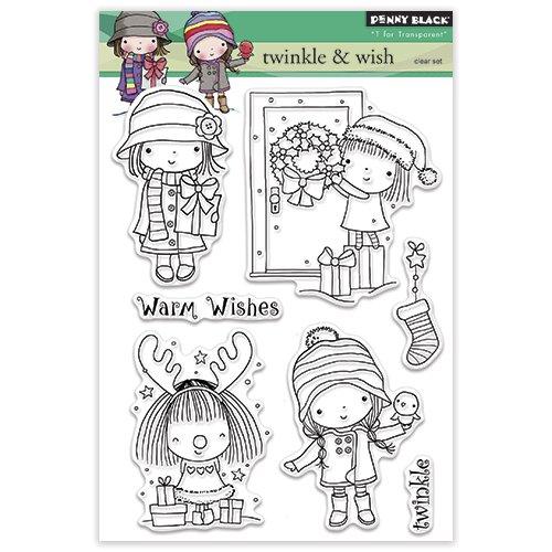Penny Black 30-313 Twinkle /& Wish Transparent Decorative Rubber Stamp Set
