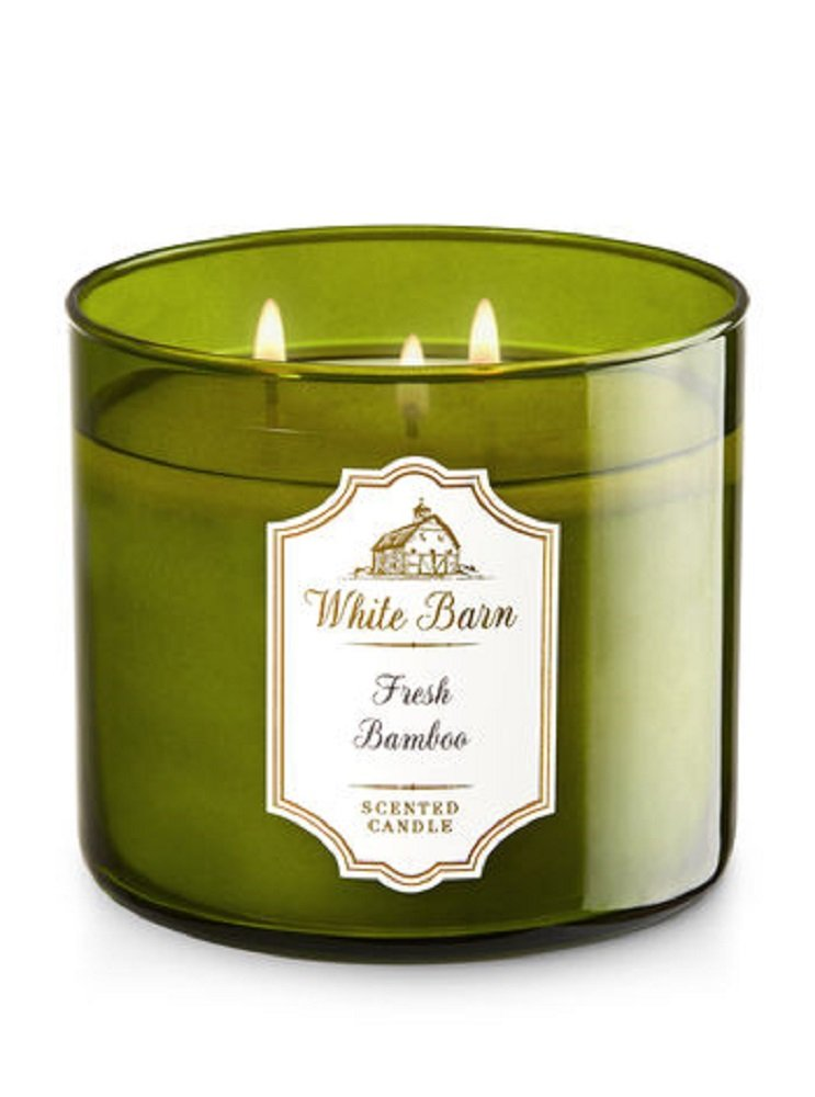 White Barn Bath & Body Works Candle 3 Wick 14.5 Ounce Fresh Bamboo