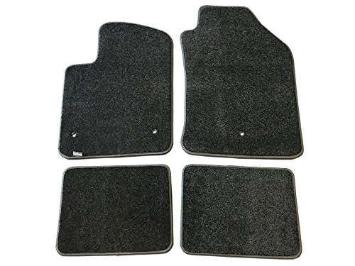 CarsCover Custom Fit 2012-2019 Fiat 500/500C Front and Rear Carpet Car Floor Mats Heavy Cushion Ultramax Asphalt Black  (Best Fiat 500 Accessories)