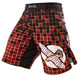 Hayabusa Technique Fight Shorts, 36, Red