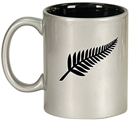 4fae4239cdf Image Unavailable. Image not available for. Color: Ceramic Coffee Tea Mug  Cup New Zealand Silver Fern ...
