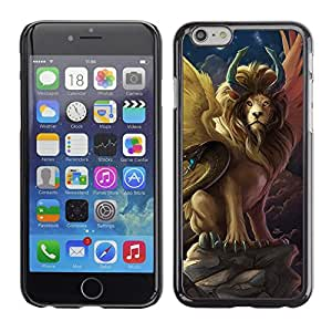 LECELL--Funda protectora / Cubierta / Piel For Apple iPhone 6 -- Lion Snake Ancient Symbols Now Moon --
