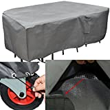 Heavy Duty Patio Furniture Set Cover Extra Large Sized Taupe Grey Waterproof Weather Resistant Table and Chair Outdoor Cover Patio Fabric Dining Set Cover eBook by Easy&FunDeals