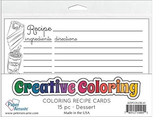 アクセントデザイン ペーパーアクセント 塗り絵カード デザート レシピカード デザート
