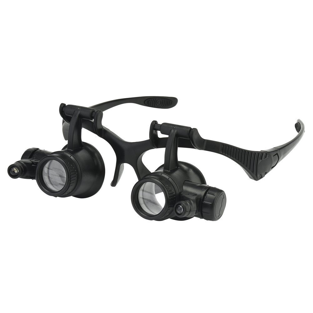 Beileshi Watch Repair Magnifier Loupe Jeweler Magnifying Glasses Tool Set with LED Light (2.5X 4X 6X 8X 10x 15x 20x 25x)