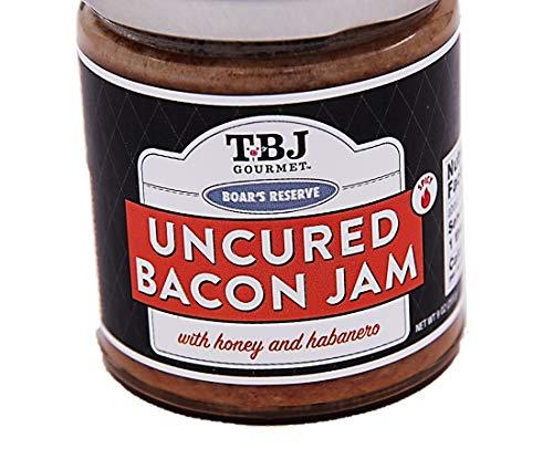 TBJ Gourmet Bacon Jam - Original Recipe Bacon Spread - Uses Real Bacon, No Preservatives - Authentic Bacon Jams - 9 Ounces (Honey Habanero, 1 Pack)