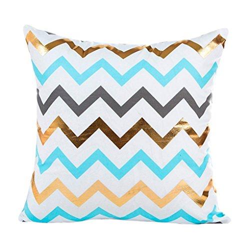 [Simple Geometric Jacquard Style Pillowcases,Woaills 18X18