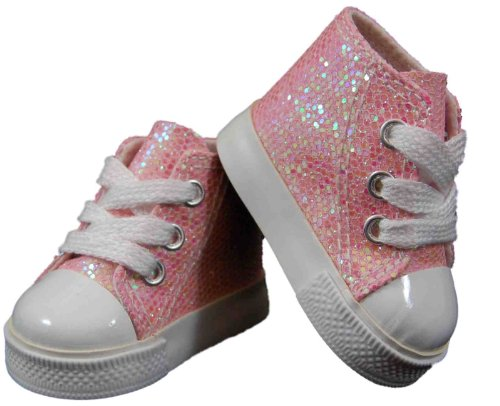 The Queen's Treasures Pink Sparkle High Top for 18″ Dolls and American Girl, Baby & Kids Zone