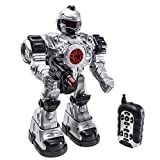 Robot Police Toy | Remote controlled | Flashing lights | Robot sounds | 10 different actions | Robot Shoots Missiles Walks & Talks |AA battery functional | Wireless remote Great Action Toy for Boys