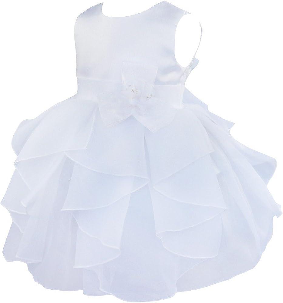 iixpin Vestito Cerimonia Bambina Fiore Vestito Torta Carnevale Abito da Battesimo Neonata Principessa Abito da Sposa per Bambini Festa di Compleanno Abiti