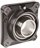 Link-Belt F3U228N Ball Bearing Flange Unit, 4 Bolt Holes, Standard-Duty, Relubricatable, Non-Expansion, Cast Iron, Spring Locking Collar, Inch, 1-3/4'' Bore Diameter