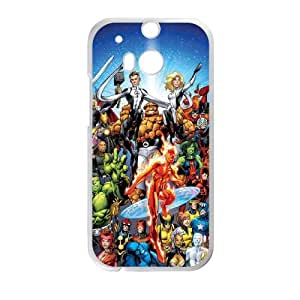 HTC One M8 Cell Phone Case White Marvel comic frof