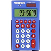 Teacher's Kit 10 Pack 8 Digit Pocket Calculator with Extra Large Display (108TK)