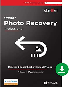 Stellar Photo Recovery Software | for Windows | Professional | Recover Lost or Deleted Photos, videos & audio files | 1 Device, 1 Yr Subscription [Download]