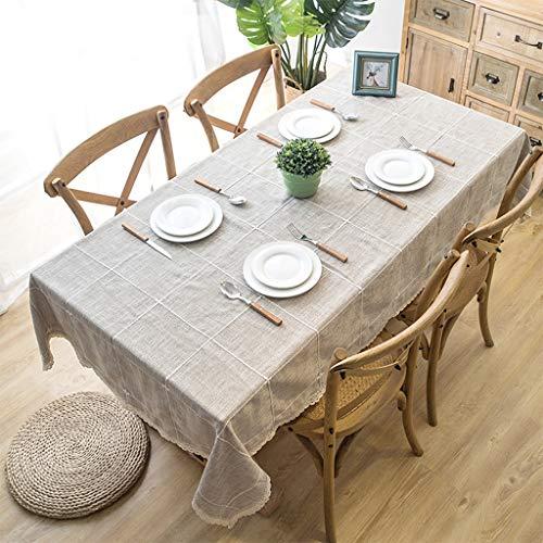 E 120160cm LIZHIQIANG Nappe En Lin Coton Coton, Nappe De Table Rectangle Huile-preuve Imperméable Anti-brûlure à La Maison, 5 Couleurs En Option (Couleur   E, taille   120  160cm)