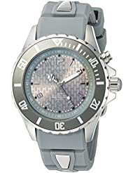 KYBOE! Power Quartz Stainless Steel and Silicone Casual Watch, Color:Grey (Model: FW.40-003.15)