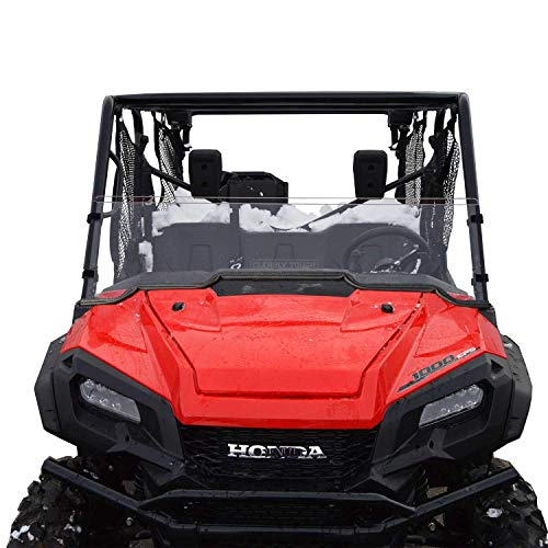 Honda Pioneer 1000/1000-5 Windshield - Half - SCRATCH RESISTANT - The ultimate in SxS versatility! Easy on and off. No tools needed!Premium poly w/Hard CoatMade in America!! (Best Windshield For Honda Pioneer 1000)