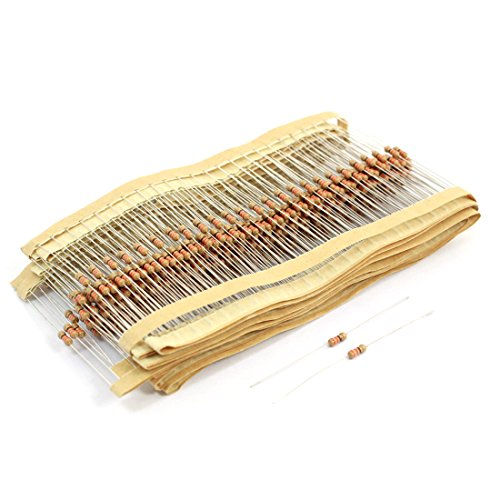 Uxcell a14051900ux0432 400 Piece 1/4W Axial Leads Color Ring Carbon Film Resistors, 330 -
