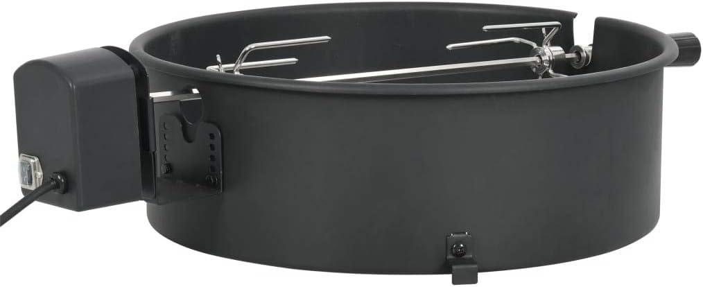 Tidyard Kit de Anillo asador de Barbacoa Negro 47 cm Horno Exterior Accesorios