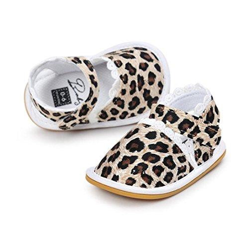 Tefamore Sandalias Zapatos de Recién Nacido Suela Blanda Antideslizante Para Niños Pequeños Bebé Sneakers Primavera y verano E