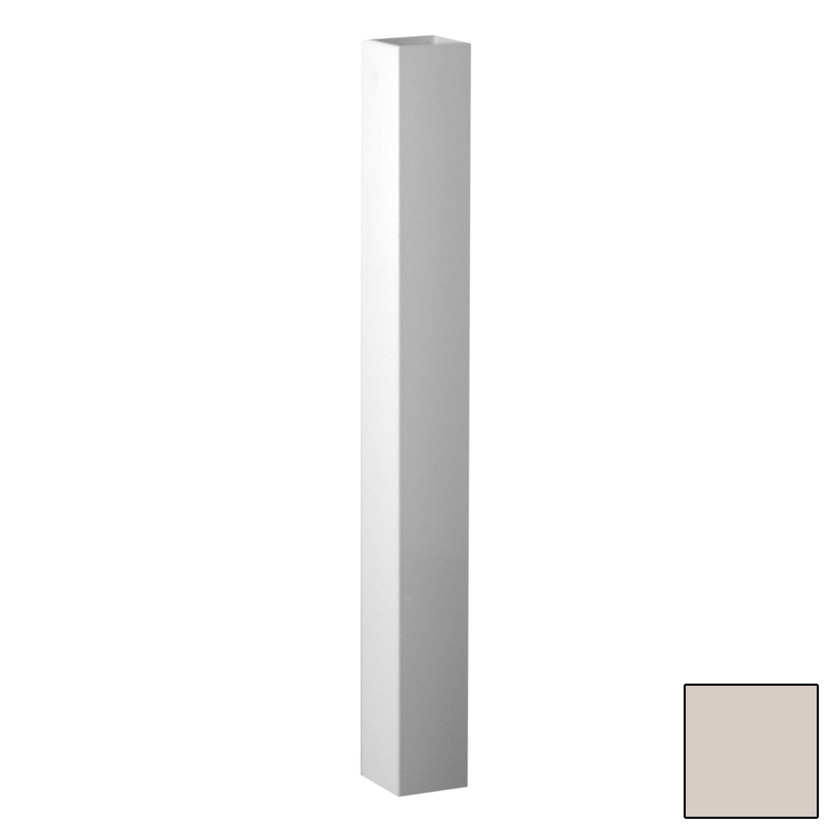 Fypon 4T050444PS Post Sleeve with 3-5/8'' Inside Width, 4'' x 4'' x 44'', Tan