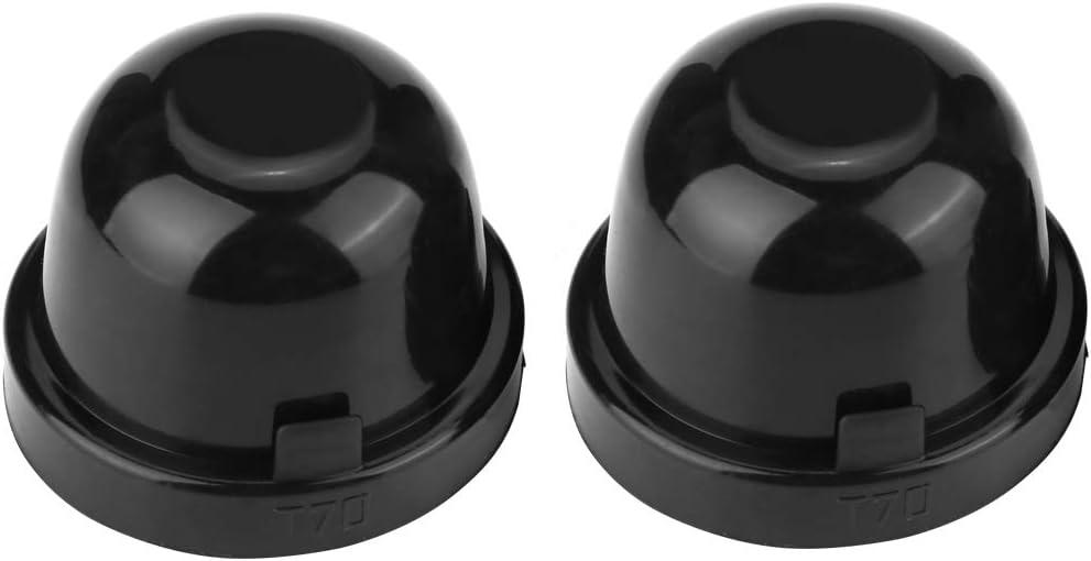 2 Pcs 70mm LED Bulb Headlight PVC Rubber Waterproof Dustproof Sealing Cover Cap Aramox Car Headlight Dust Covers