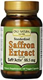 Only Natural Nutritional Veggie Capsules, Saffron with Saffr' Activ, 88.5 mg, 60 Count