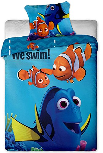Disney Finding Dory and Nemo Single Duvet Cover Set 100% Cotton By BestTrend®